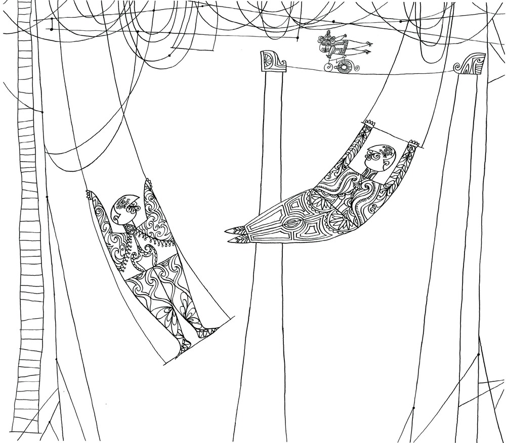 Trapeze Artists    Ink on paper 1956