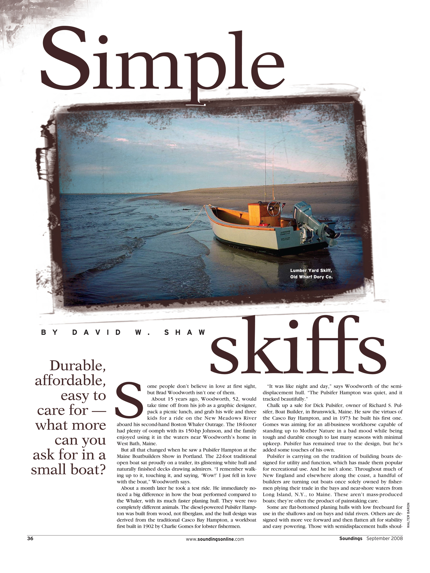 Simple Skiffs — Old Wharf Dory