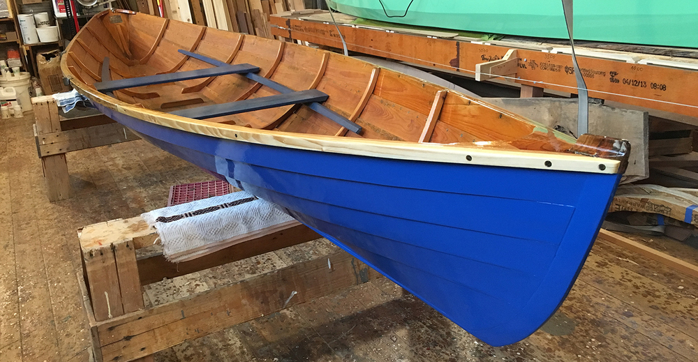 The 17' Herreshoff/Gardner row boat repaired, repainted, and ready to go...