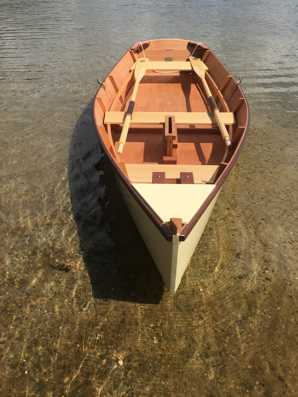 Bow view, Bevin's Skiff