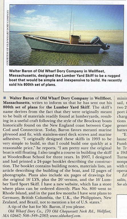 Thanks to WoodenBoat for the article!