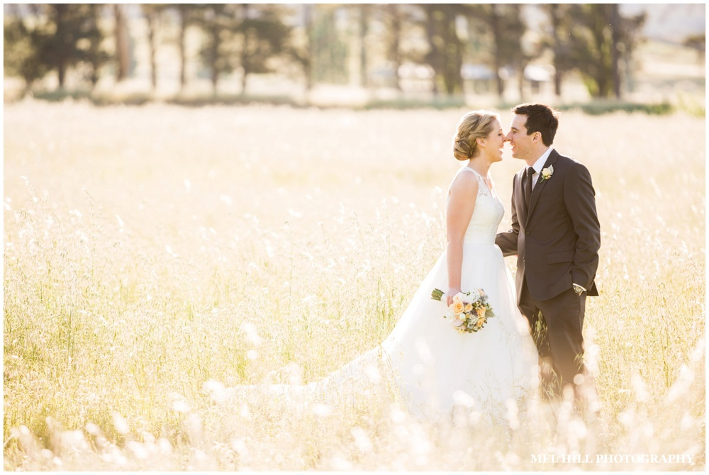 Photo of recently married couple at Grazing Gunderoo, near Canberra