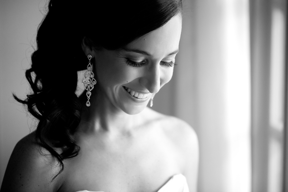 Bride just about to get married in Canberra at Hyatt Hotel