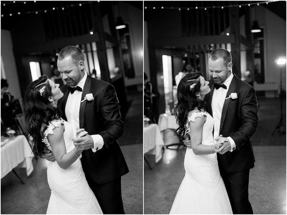 Bride and groom's first dance at Grazing at Gundaroo