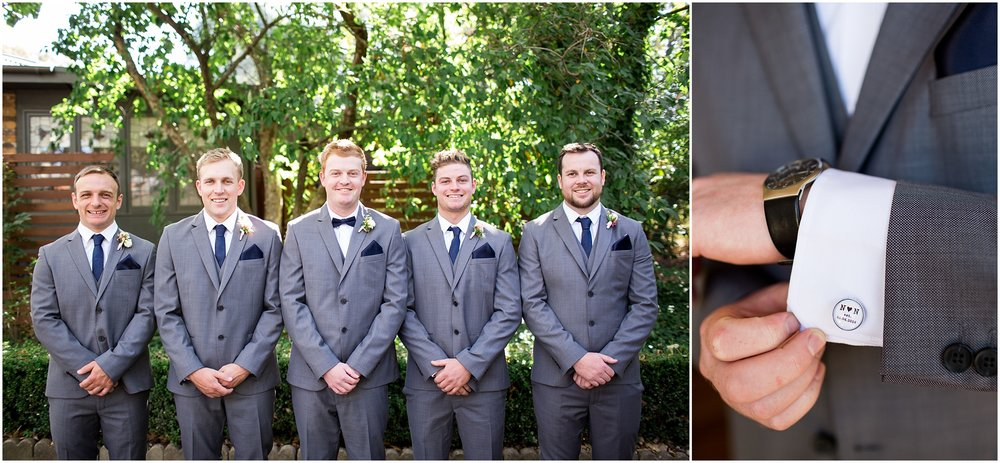 Groom with Groomsmen - The Chapel at Gold Creek