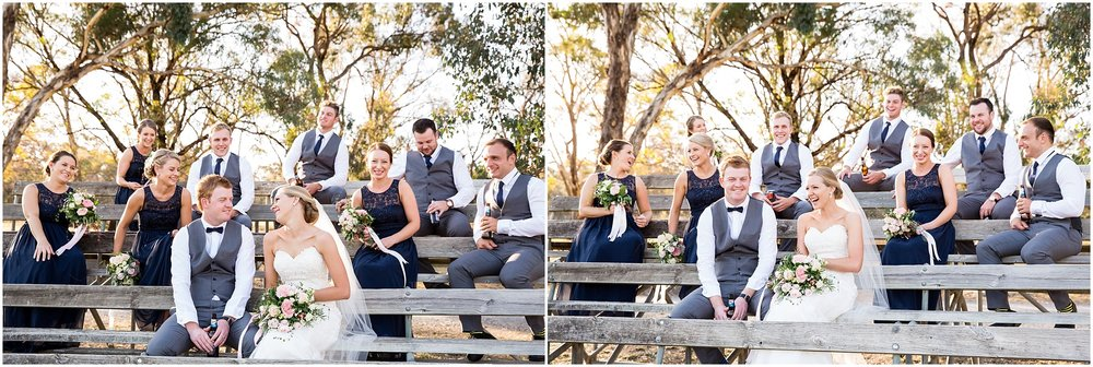 Bridal party photos at Hall Showgrounds near Gold Creek