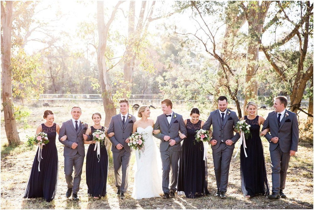Bridal Party Wedding Photography at Gold Creek