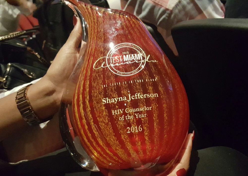 Shayna Jefferson's Award!