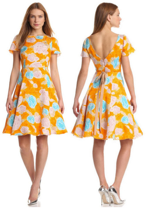 Tracy Reese Deconstructed floral dress Org. $398