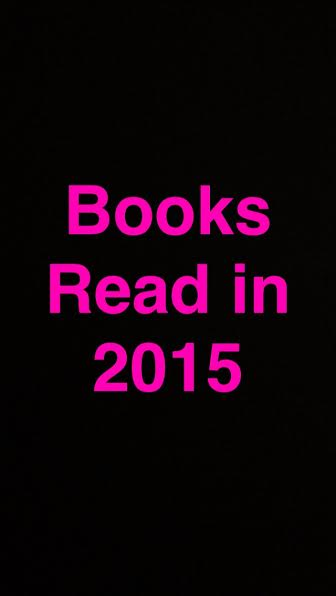 Books Read in 2015