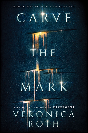[A still image of the cover of Veronica Roth's  Carve the Mark .]