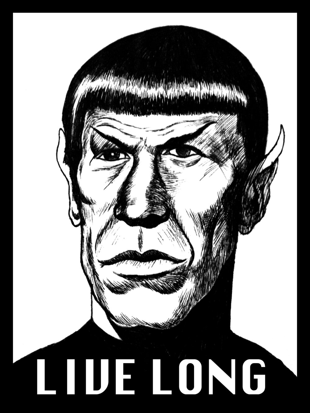 Dr. Spock  2014 ink and digital