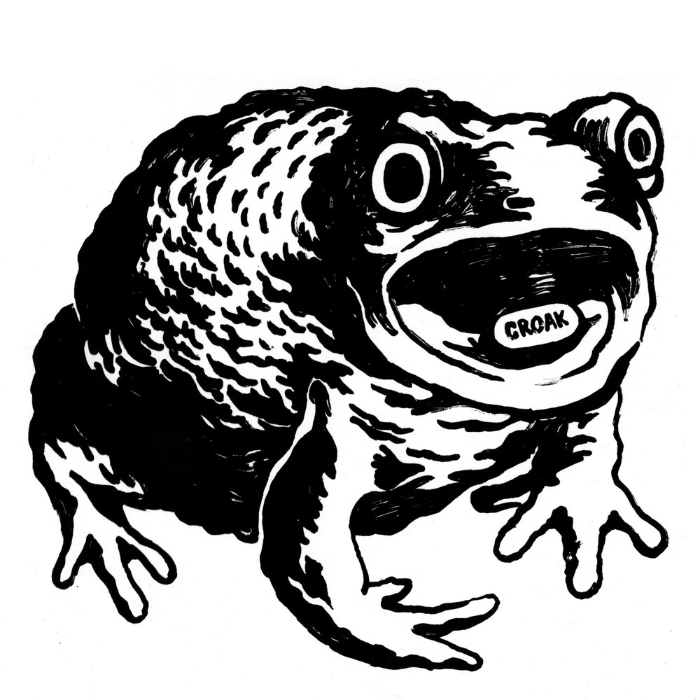 Croak Toad  2014 screenprint