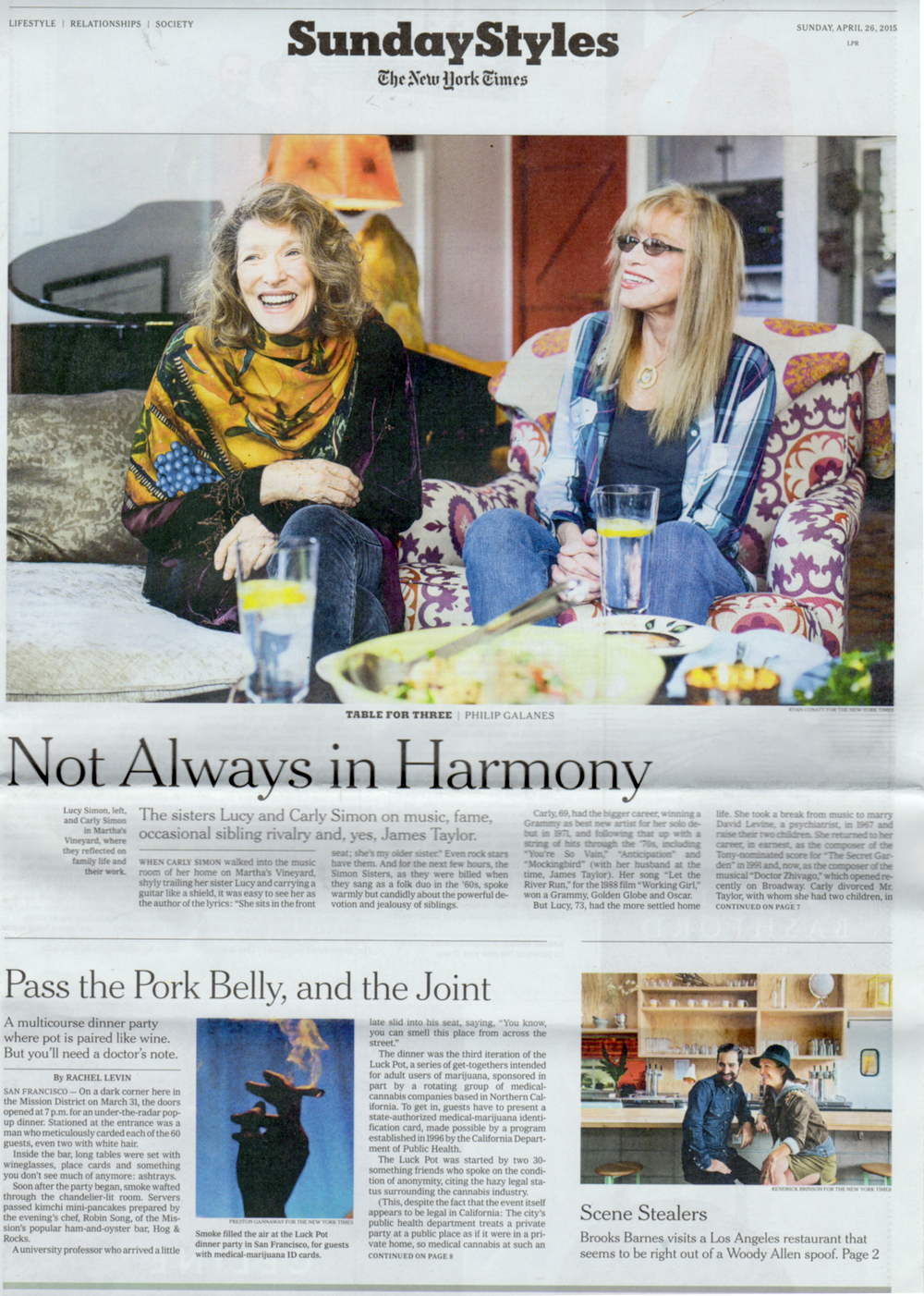 New York Times Sunday Styles