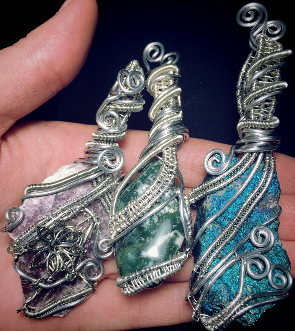 Sneak peek of the pendants I made today that will be added to my shop on Monday!