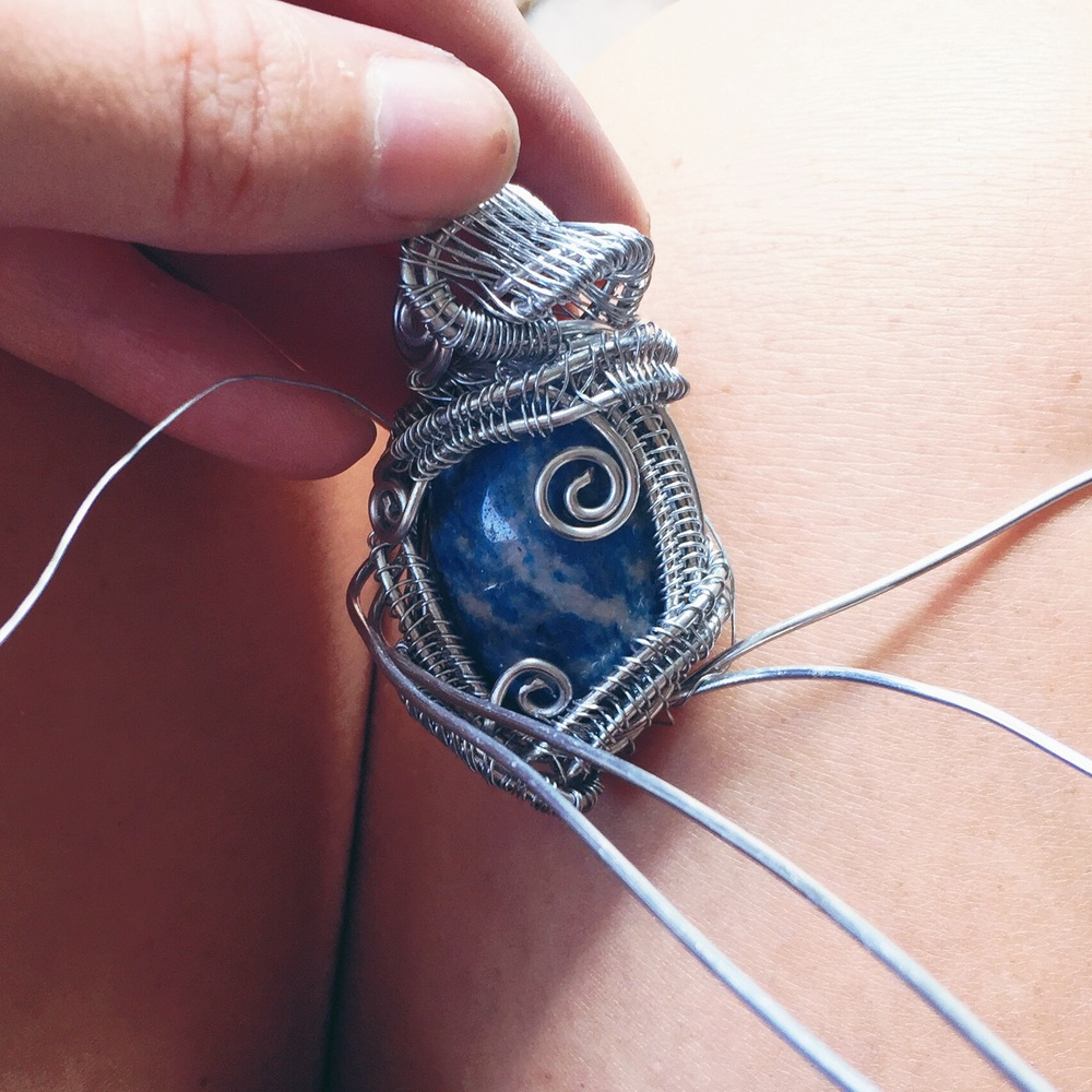 Advanced wire wrapping tutorial and zen some step eight continue weaving and wrapping as much as you would like once the stone is in place it is up to you to create the amount and type of detail you baditri Images