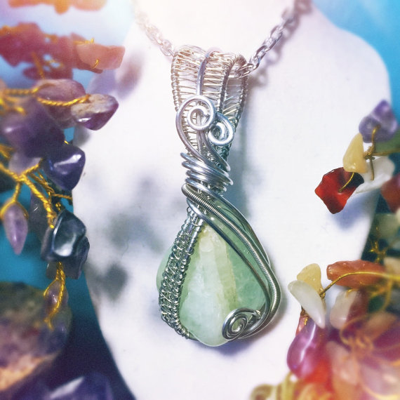 Aquamarine pendant, handmade by And Zen Some.