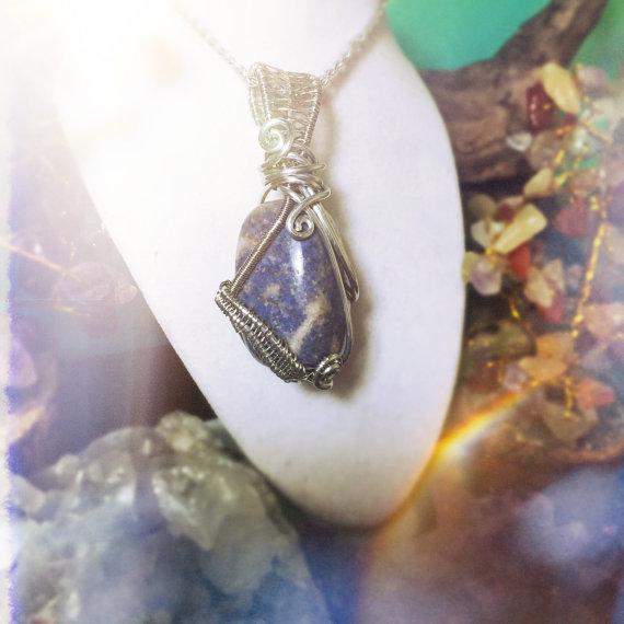 Dumortierite pendant, handmade by And Zen Some.