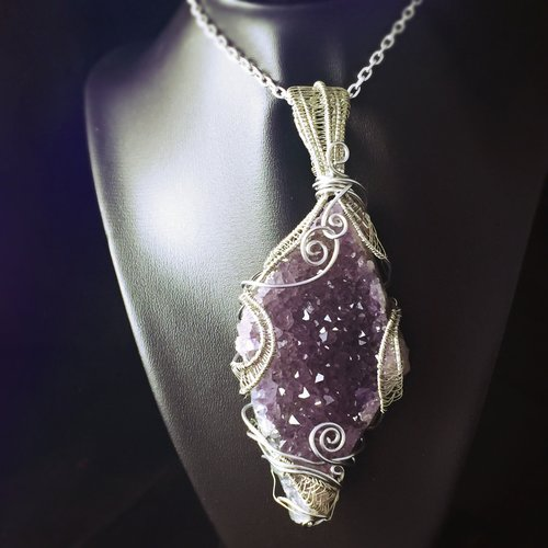 Wire Stress Relief | Stress Relief Statement Amethyst Huge Wire Wrapped Healing Crystal