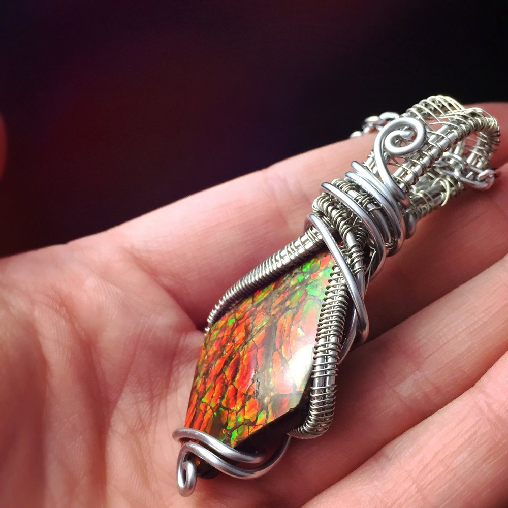 Ammolite - Helps free you from expectation and the past