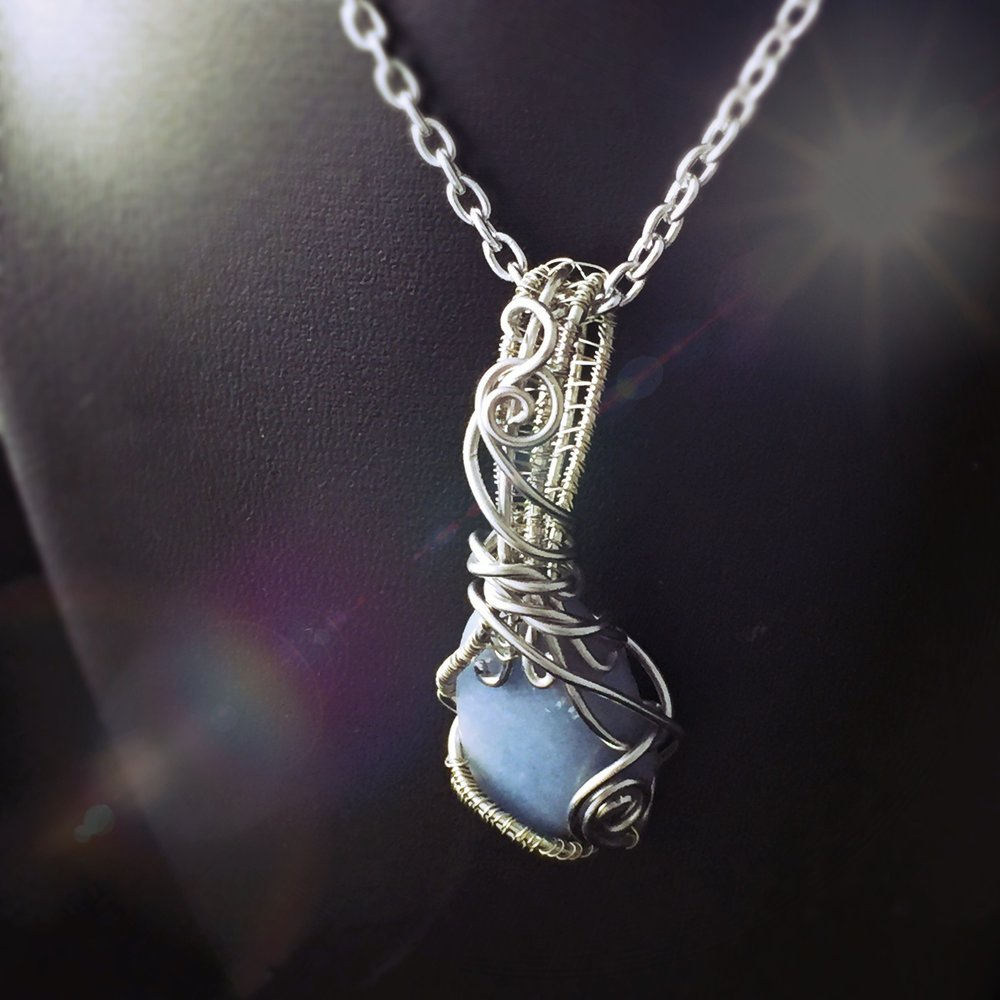 This Angelite necklace by And Zen Some is great crystal pendant for Aquarius Zodiac energy!