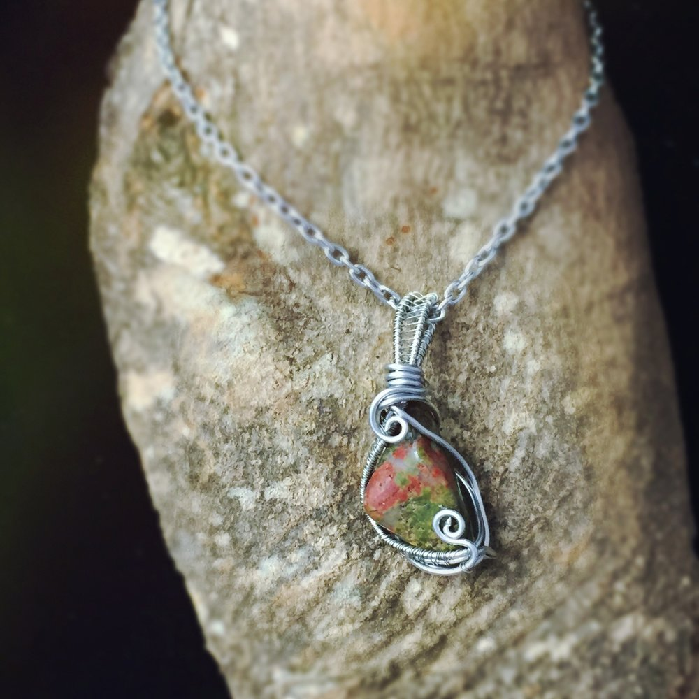 Treat your Scorpio energy to this amazing Unakite pendant