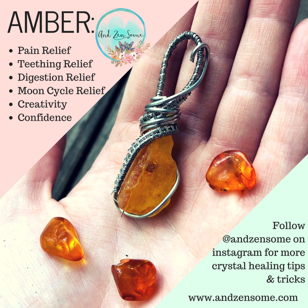 Visit my  shop  or  etsy  page to find beautiful amber jewelry! Check out my  instagram  for more crystal tips