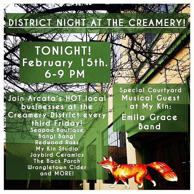 Come check out all the cool businesses open late in the Creamery District tonight!  Have a glass of cider or wine before you wander our sweet neighborhood. 🌌🌟🌃