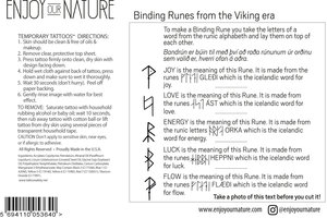 Temporary Tattoo Binding Runes Enjoy Our Nature