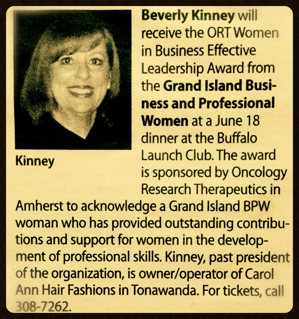 ORT Women in Business Effective Leadership Award
