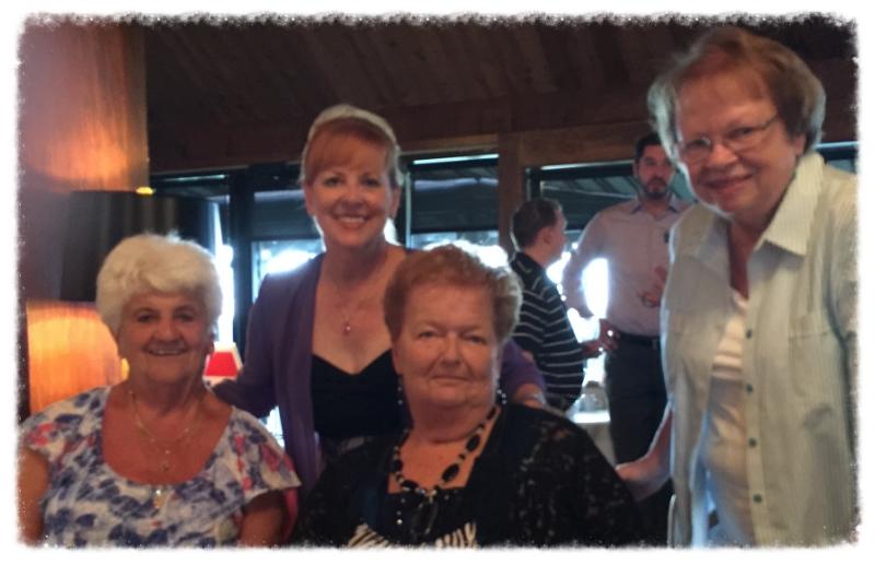Nancy Samrany, former Town Clerk, Bev Kinney, Judge Sybil Kennedy & Sharon Osgood, Dem committee member