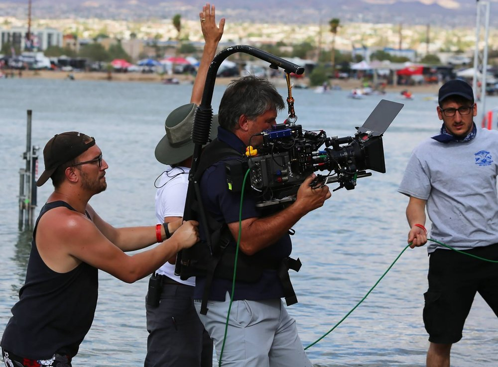 Clint in action on set - Hot Water the movie - filmed in Lake Havasu, AZ. Currently in production, release date TBD.