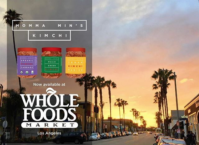 Hey LA! Pick up a bottle of Momma Min's Kimchi today at your local Whole Foods Market! #organic #vegan #raw #kimchi #kale