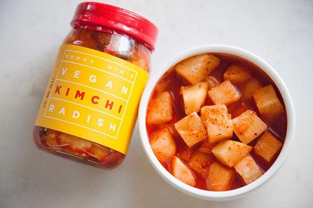 Vegan + Probiotic #kimchi #mommamins #radish