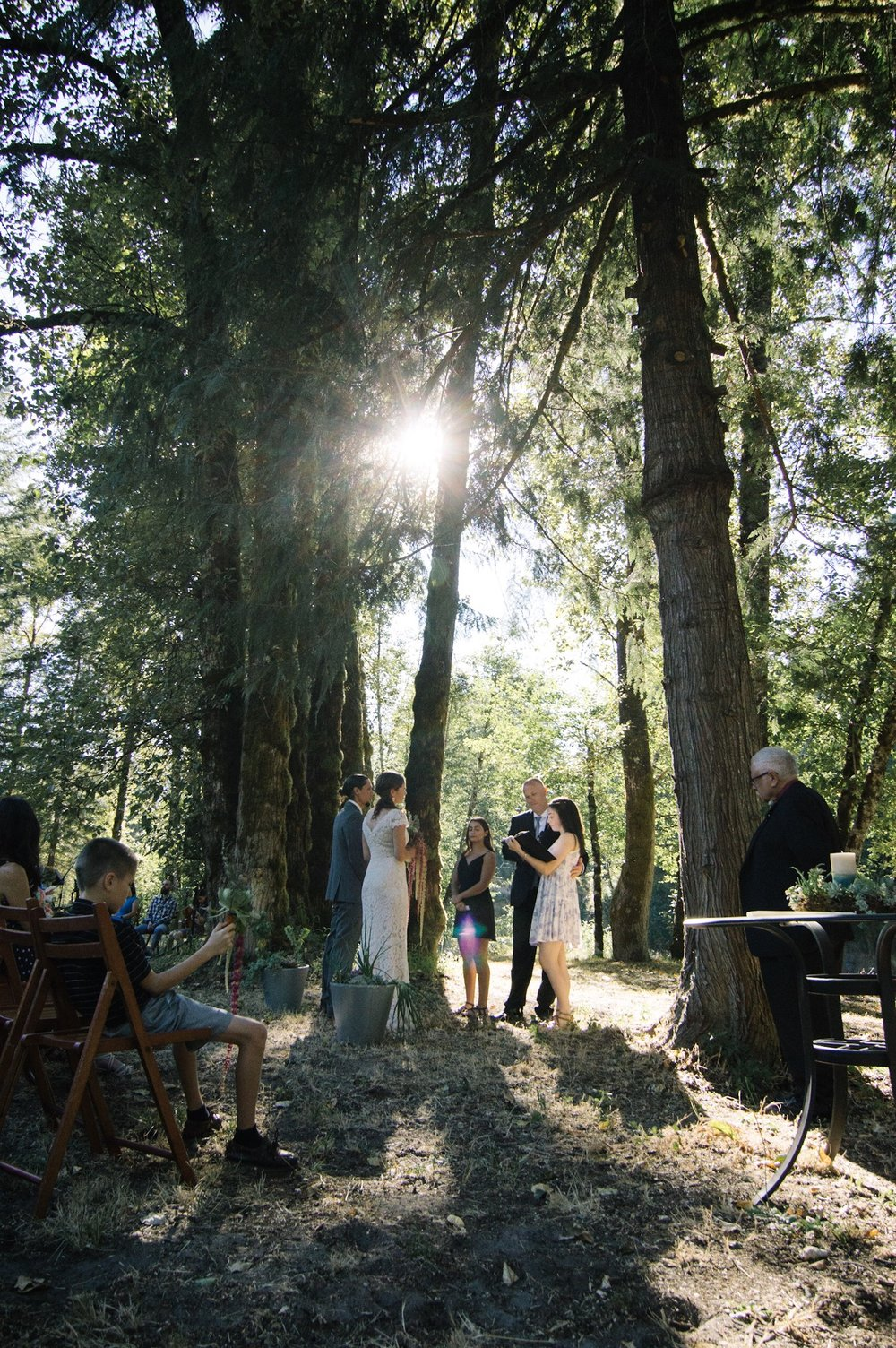 marriage under trees