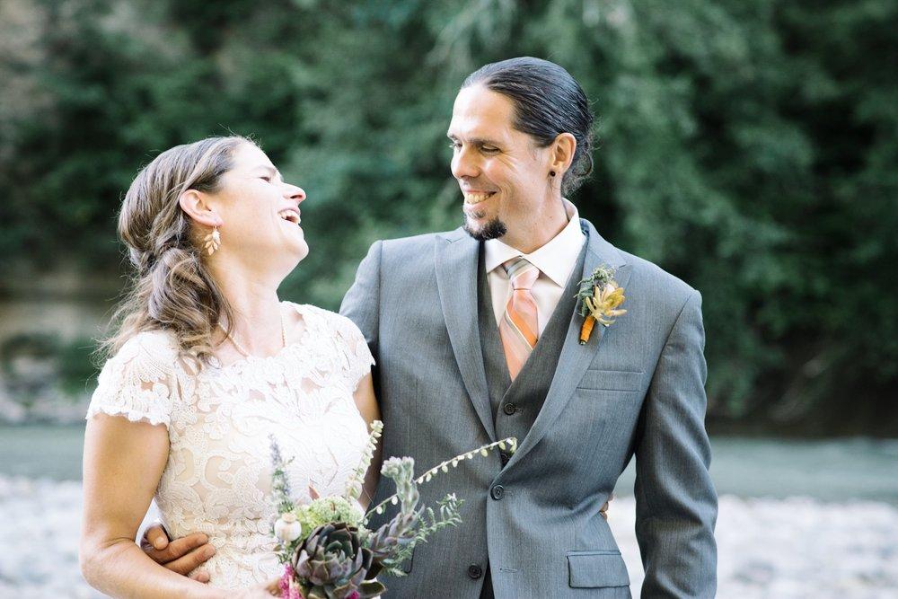 wedding laugh pose