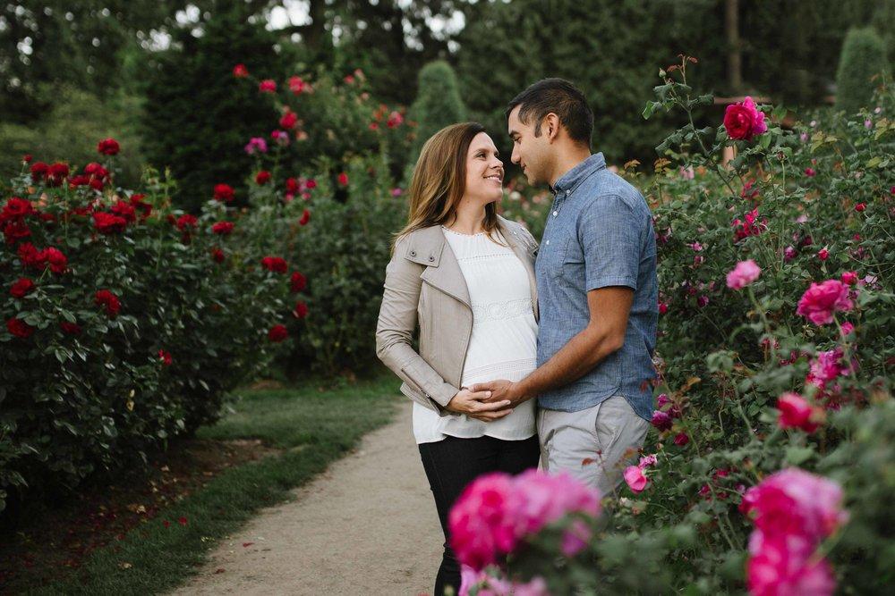 pregnancy rose garden
