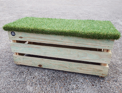 Grass Top Pallet Bench - Double