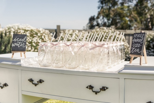 Large White Drink Station