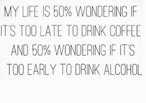 We can agree on this. But it's never too early for a cocktail right? #cocktails #inspiration #quotes #funfacts #drinks #celebrations #welldrinktothat