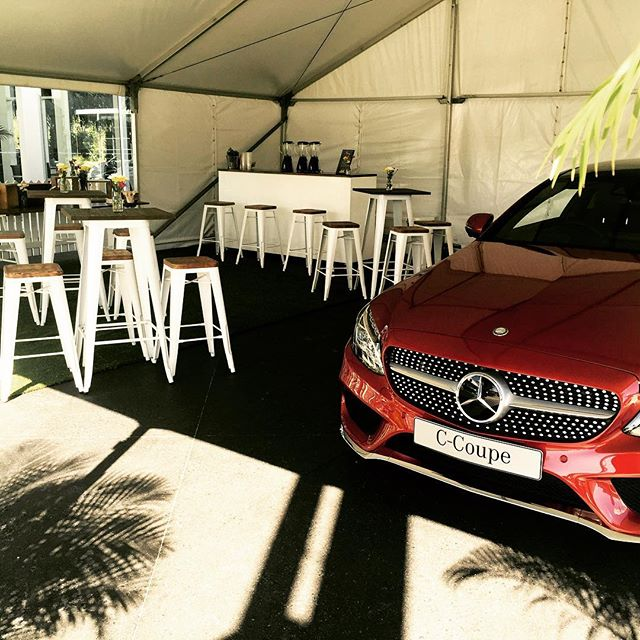 Fabulous pop up bar for the new #coupe by #mercedes. Fabulous event with fresh juices and smoothies for a VIP group. #mobilebar #juice #juicebar #smoothies #smoothiebar #events #portablebar #blendedmobilejuicebar