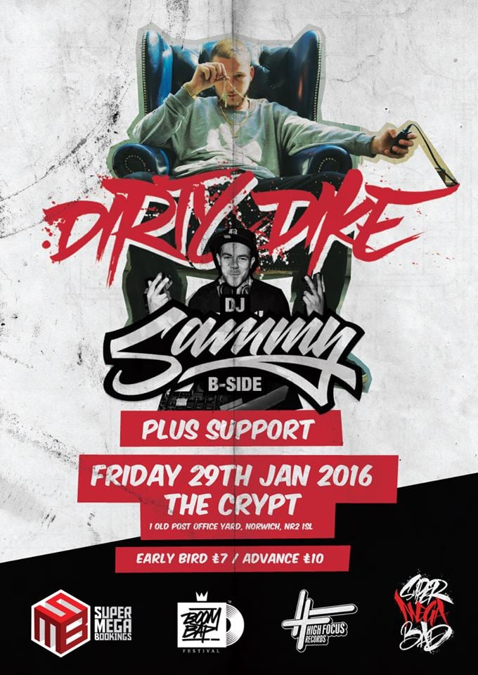 Dirty Dike & DJ Sammy B-Side Norwich Jan 2016