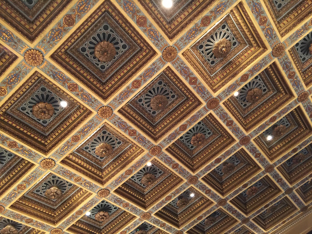The ceiling of Royce Hall ..... Gorgeous!