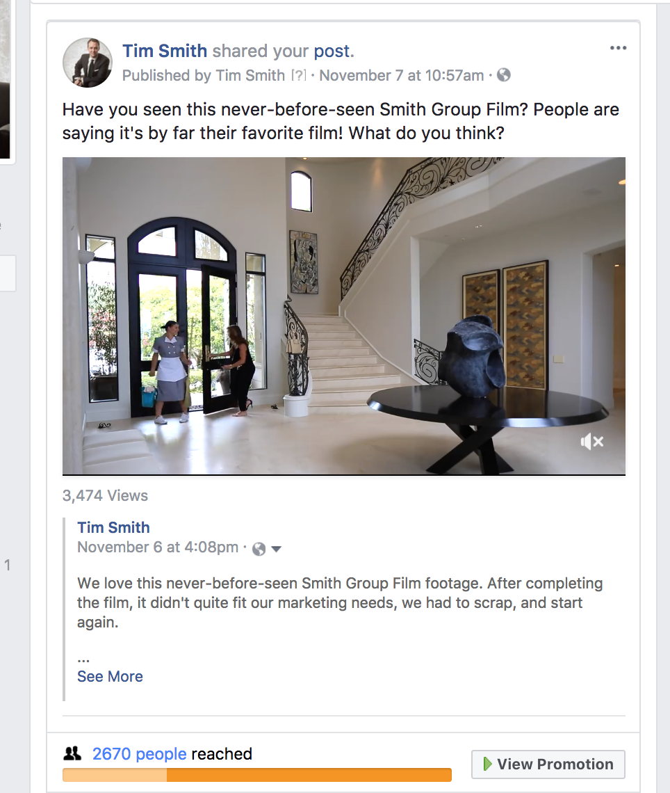 Facebook Ad for Smith Group Film 33 Smithcliffs