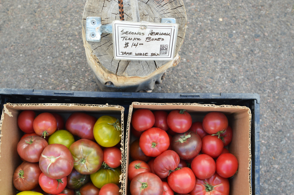 From the Market: Bulk heirlooms for your canning pleasure. (Photo by Claire Burnett)
