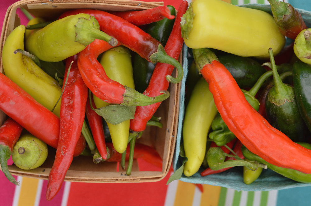 Farm fresh peppers (Photo by Cliff Cottage Collective)