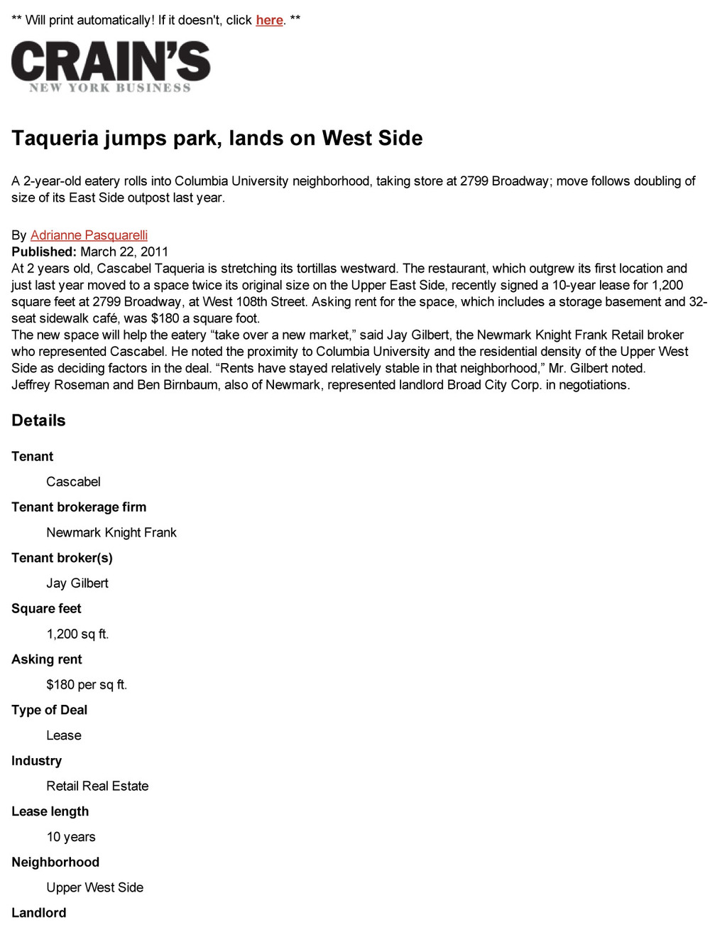 Taqueria jumps park, lands on West Side - Real Estate Deals _ Crain's New York Business.jpg