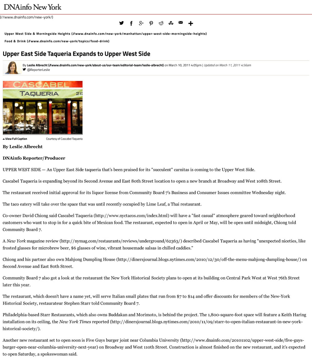 UES Taqueria Expands to UWS-DNAinfo-1.jpg
