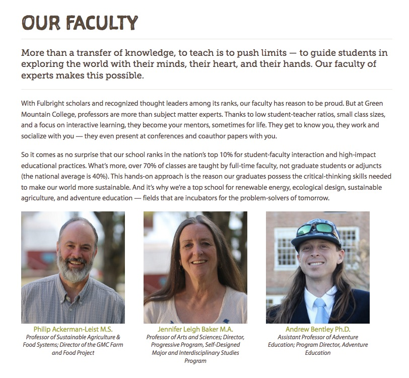 Our Faculty - click to enlarge.