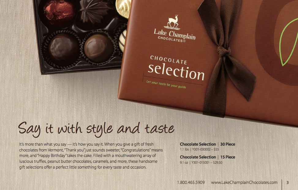 Chocolate Selection - click to enlarge.